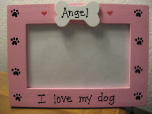 PERSONALIZED - I LOVE MY DOG - pet photo picture frame