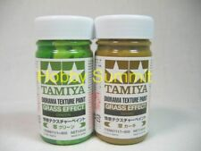Tamiya   DIORAMA TEXTURE PAINT  Grass Effect  Set of 2 Khaki & Gress 87111 87117