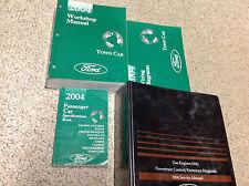 2004 Lincoln Town Car Service Shop Repair Manual Set W EWD + PCED + SPECS BOOK