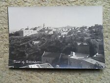 VINTAGE.REAL PHOTO POSTCARD.  VIEW OF BETHLEHEM.WRITTEN NOT POSTED.