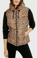 NWT CALVIN KLEIN Performance Womens XL Leopard Animal Puffer Vest Jacket Quilted