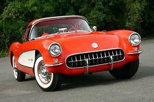 1 1957 Chevy Vette Corvette Sport Race Car 43 Vintage 12 Rare 24 Carousel Red 18