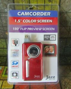 "Digital Camcorder DV-152 JAZZ 1.5"" Colour Screen 180 Flip Preview Screen NEW"