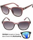 Progressive Reading Sunglasses 3 Power Strengths in 1 Reader Retro Round Frame