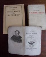 Lot de 3 vols. Napoléon - Souvenirs d'Angletterre et Italie - Les Maréchaux