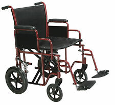 Drive Medical BTR22-R Bariatric Heavy Duty Transport Wheelchair with Swing Away