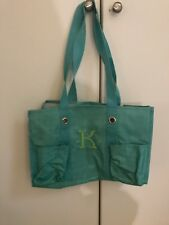 "Light Blue with letter ""K"" embroidery Toiletry bag"