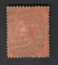 GB 1865 SG94 QUEEN VICTORIA 4D FOUR PENCE VERMILION LARGE GARTER LD LETTERS - FU