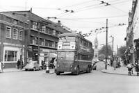 PHOTO London Transport Trolleybus 1482 at Surbiton in 1962