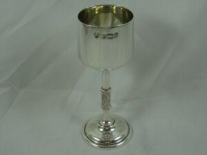 STYLISH sterling silver WINE GOBLET, 1978, 166gm