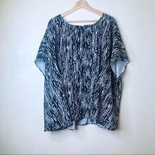 Lane Bryant Black Printed Dolman Sleeve Blouse - Size 26/28