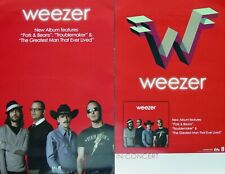 Weezer Red Album Promo Two Sided Poster Rivers Cuomo Patrick Wilson Brian Bell