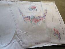 "Daisy Kingdom fabric panel pinafore yoke for child's dress ""Lilacs and Roses"", 2"
