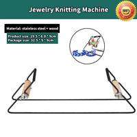 Steel Weaving Beading Set for Jewelry Bracelets DIY Handmade Knitting Machine