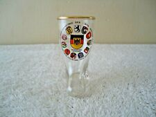 """Vintage Germany Themed Glass Boot Shot Glass """" Beautiful Rare Collectible Item """""""