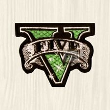 GTA 5 Logo Embroidered Patch Grand Theft Auto PC PS Xbox Videogame City London V