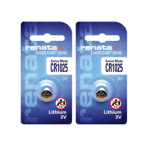 2 x Renata CR1025 Batteries, Lithium Battery 1025 | Shipped from Canada