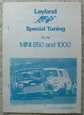 LEYLAND TUNING SPECIALE PER MINI 850 e 1000 dati BLOCCHETTO c1967 #akd 5099