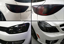 "16""x48"" Gloss Black Smoke Tint Film Vinyl Sheet For Tail Headlight Fog Lights"