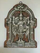 Antique indian solid Silver Repousse Virabhadra Plaque India