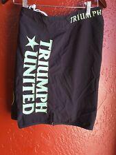 Triumph United Mma Fight Shorts Size Xl Black Green