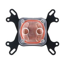 Computer CPU Water Cooler 50mm Transparent Cover Cooling Block BK For AMD Intel