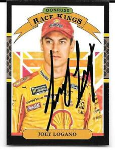 Joey Logano   NASCAR  Autographed / Signed Card 2020 Donruss  Race Kings Card