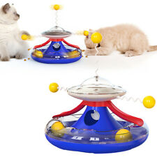 Tumbler Cat Toy Turntable Leaking Food Toy Funny Cat Baseball Interactive Toy