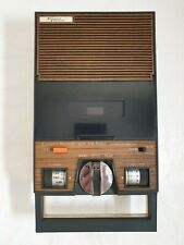 Vintage AM radio cassette tape recorder / player wood effect 100A