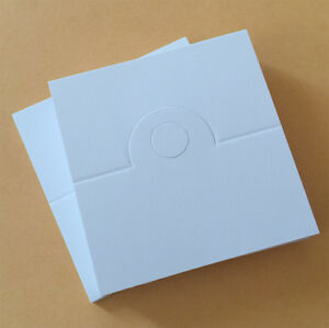 100pc Blank(No Printed) Fold Over Craft White Tag for Accessory Jewel Cello Bag