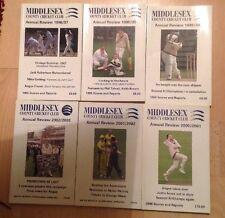 Middlesex County Cricket Club revisión anual