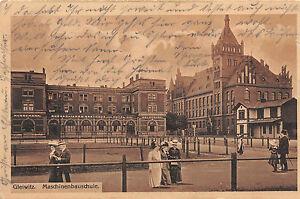 Gleiwitz / Gliwice Schlesien Maschinenbauschule Postkarte 1915