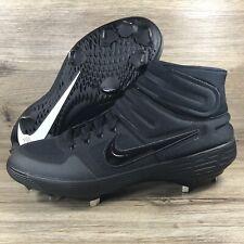 Nike Alpha Huarache Elite 2 Mid Jackie Robinson 42 Black AV2471-002 Mens Size 13