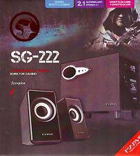 ALTOPARLANTI 2.1CANALI SCORPION MARVO BORN FOR GAMING SG-222