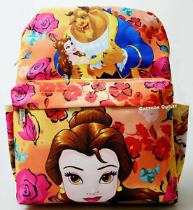 """Disney Belle All Over Print Ladies 12"""" Mini Backpack Purse Beauty And The Beast"""