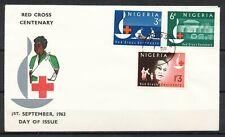 RED CROSS CENTENARY 1963 - FDC NIGERIA, LAGOS 1.SE.63                      VI386