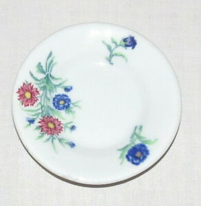 Butter Pat- McNichol China - Restaurant Ware - 3.5 inches - Blue & Pink Flowers