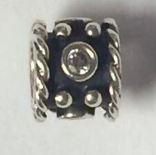 Pandora Oxy Crown Clear CZ Charm 925Sterling Silver Style #790221CZ W/Pink Pouch