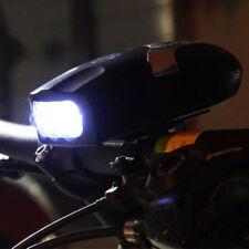 3LED 2in1 Bicycle Headlight Lamp Bell Horn Hooter Siren Waterproof Black