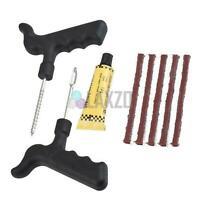 Motorcycle Car Van Tubeless Tyre Punture Repair Kit Tire Tool Plug Emergency