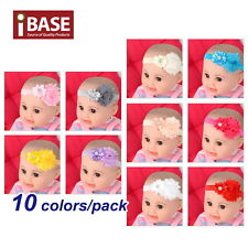 Beauty 10pcs Kids Girl Infant Baby Chiffon Toddler Flower Bow Headband Hair Band