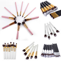 10Pcs Makeup Cosmetic Tool Eyeshadow Powder Foundation Cheek Brush Set Mystic