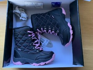 Crane Girls Thermoboots - Black /pink. Size 13