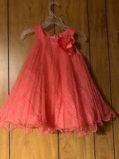 Bonnie Jean 2T Girl Peach Polka Dot Sleeveless Sun Dress
