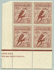 Australien Australia 1932 Kookaburra 6d Vogel 119 Block VG Perfin SG 146 MNH/308