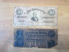 confederate currency 50 and 500 dollars, have been in circulation