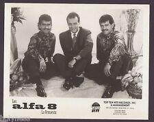 VINTAGE PRESS PHOTO / LOS ALFA 8 LA ORQUESTA / 1990's