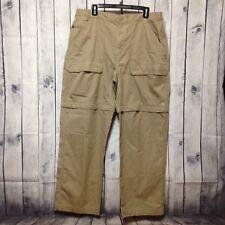 The North Face Convertible Cargo Pants Mens XL Khaki Zip-off Hiking Camping