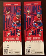 2 tickets Pittsburg Penguins @ Montreal Canadiens,  Jan 4, 2020