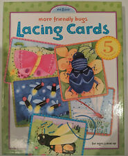 eeBoo more friendly bugs Lacing Cards ages 3+ (5 cards, missing 1 lace)